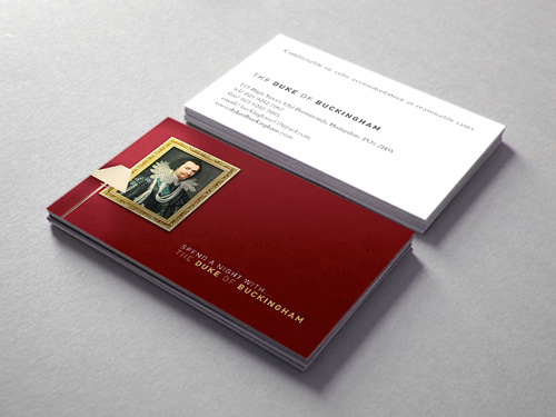 The Duke of Buckingham: Business Card Design