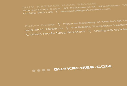 Guy Kremer: Brochure Cover Detail